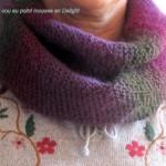 modèle tour de cou en tricot #8