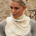 modèle tour de cou en tricot #9