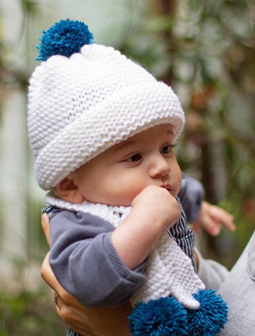 modèle tricot écharpe bébé #11