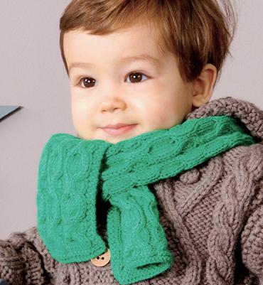 modèle tricot écharpe bébé #14