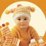 modèle tricot écharpe bébé #17