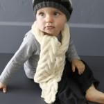 modèle tricot écharpe bébé #2