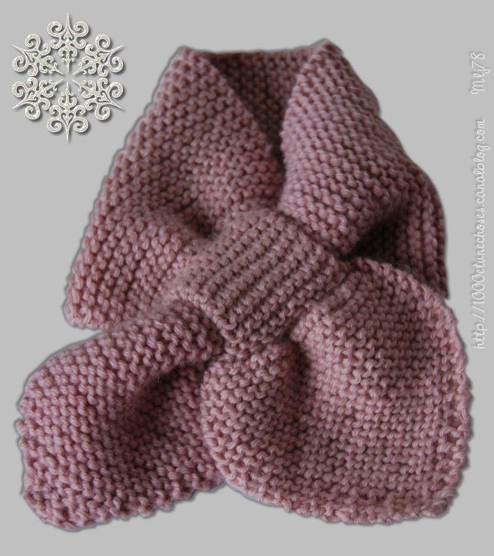 modèle tricot écharpe bébé #3