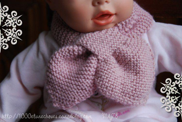 modèle tricot écharpe bébé #7