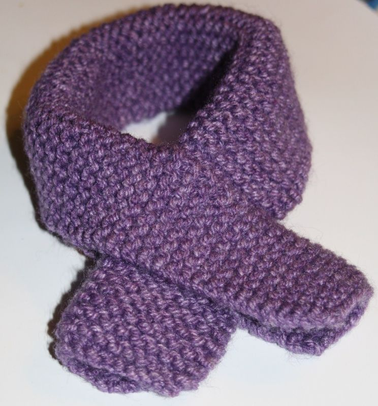 modèle tricot écharpe bébé #8
