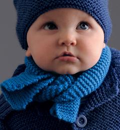 modèle tricot écharpe bébé #1