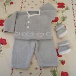 modèle tricot bébé bergère de france #12