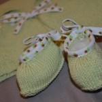 modèle tricot bébé en coton #11