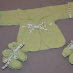 modèle tricot bébé en coton #12