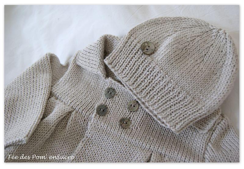 modele tricot bebe en coton