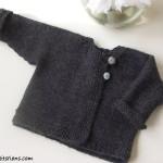 modèle tricot bébé en coton #1