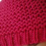 modèle tricot bonnet femme point mousse #10