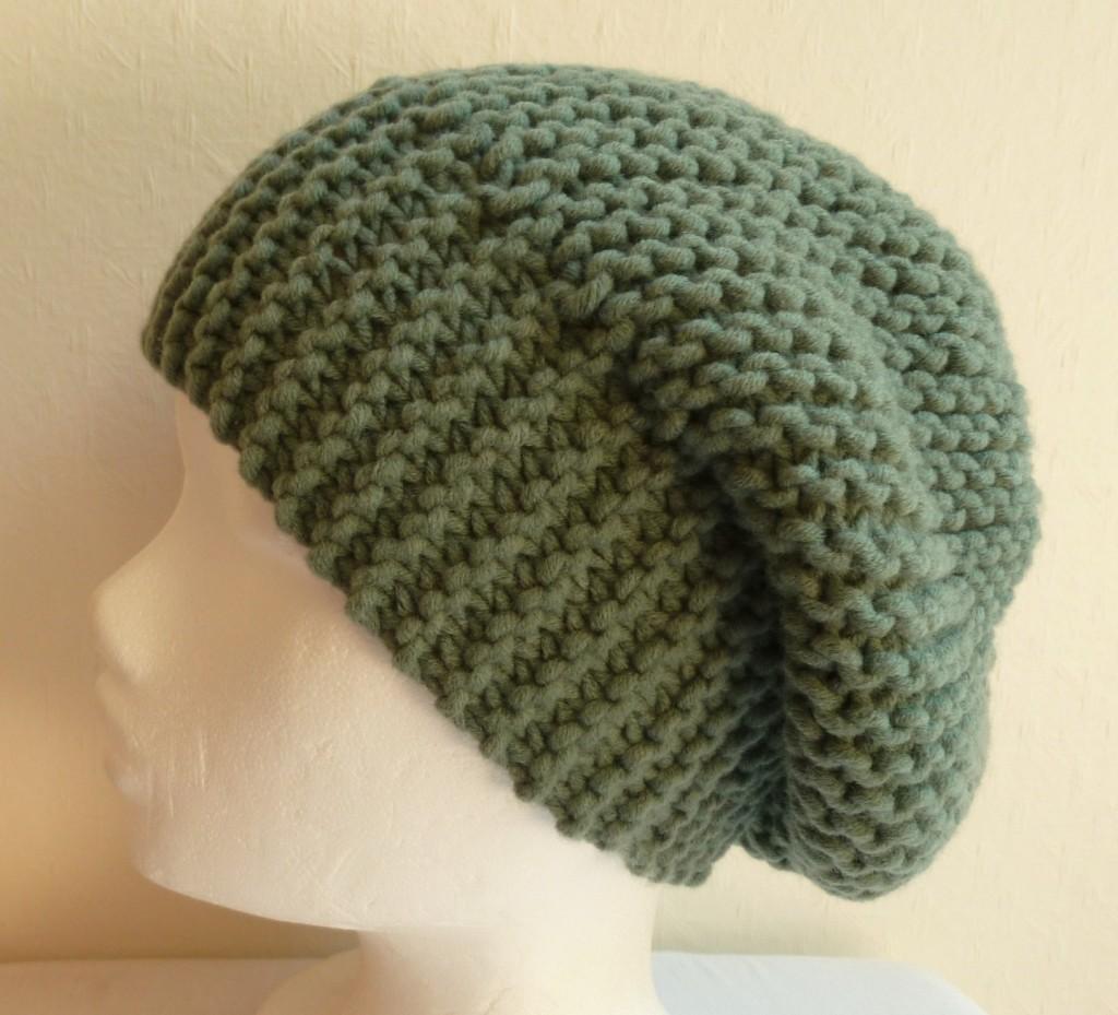 Mod le tricot bonnet femme point mousse 11 - Modele tricot bonnet femme facile ...