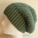 modèle tricot bonnet femme point mousse #11