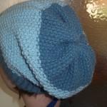 modèle tricot bonnet femme point mousse #13