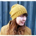 modèle tricot bonnet femme point mousse #14