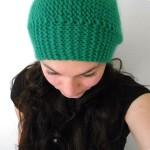 modèle tricot bonnet femme point mousse #15