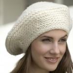 modèle tricot bonnet femme point mousse #1