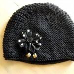 modèle tricot bonnet femme point mousse #18