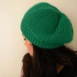 modèle tricot bonnet femme point mousse #3
