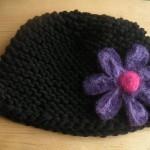 modèle tricot bonnet femme point mousse #6
