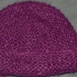 modèle tricot bonnet femme point mousse #7