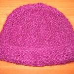 modèle tricot bonnet femme point mousse #8