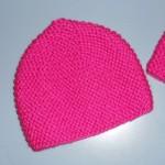 modèle tricot bonnet femme point mousse #9