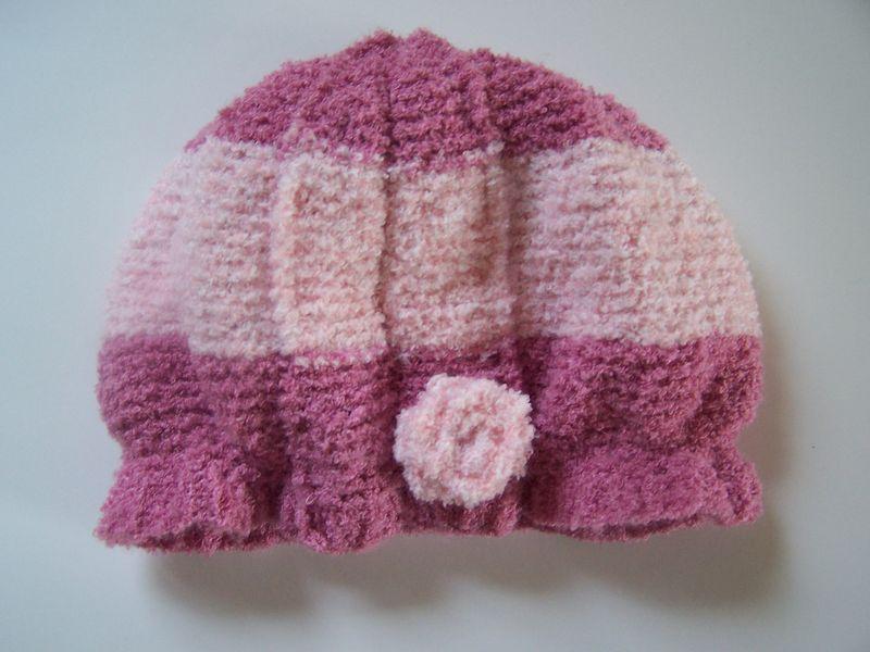modèle tricot bonnet fille #12
