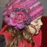 modèle tricot bonnet fille #15