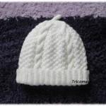modèle tricot bonnet torsade femme #13