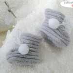 modèle tricot chausson bébé #10