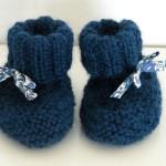 modèle tricot chausson bébé #13