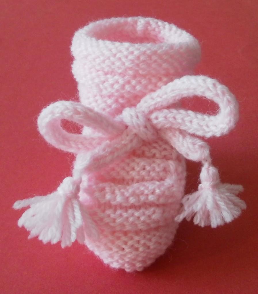modèle tricot chausson bébé #15