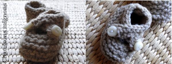 modèle tricot chausson bébé #16