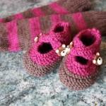 modèle tricot chausson bébé #17