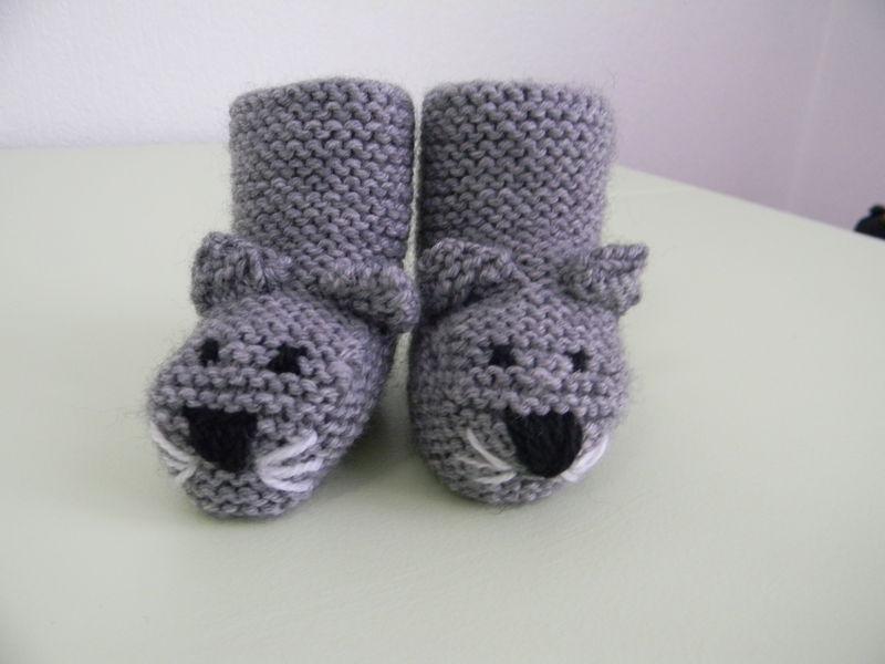 modèle tricot chausson bébé #2