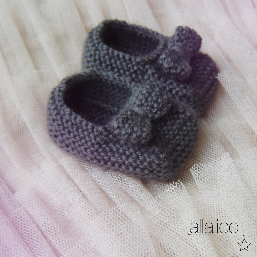modèle tricot chausson bébé #3