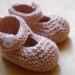 modèle tricot chausson bébé #6