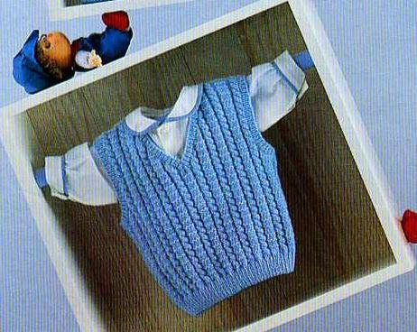 modèle tricot débardeur homme #10