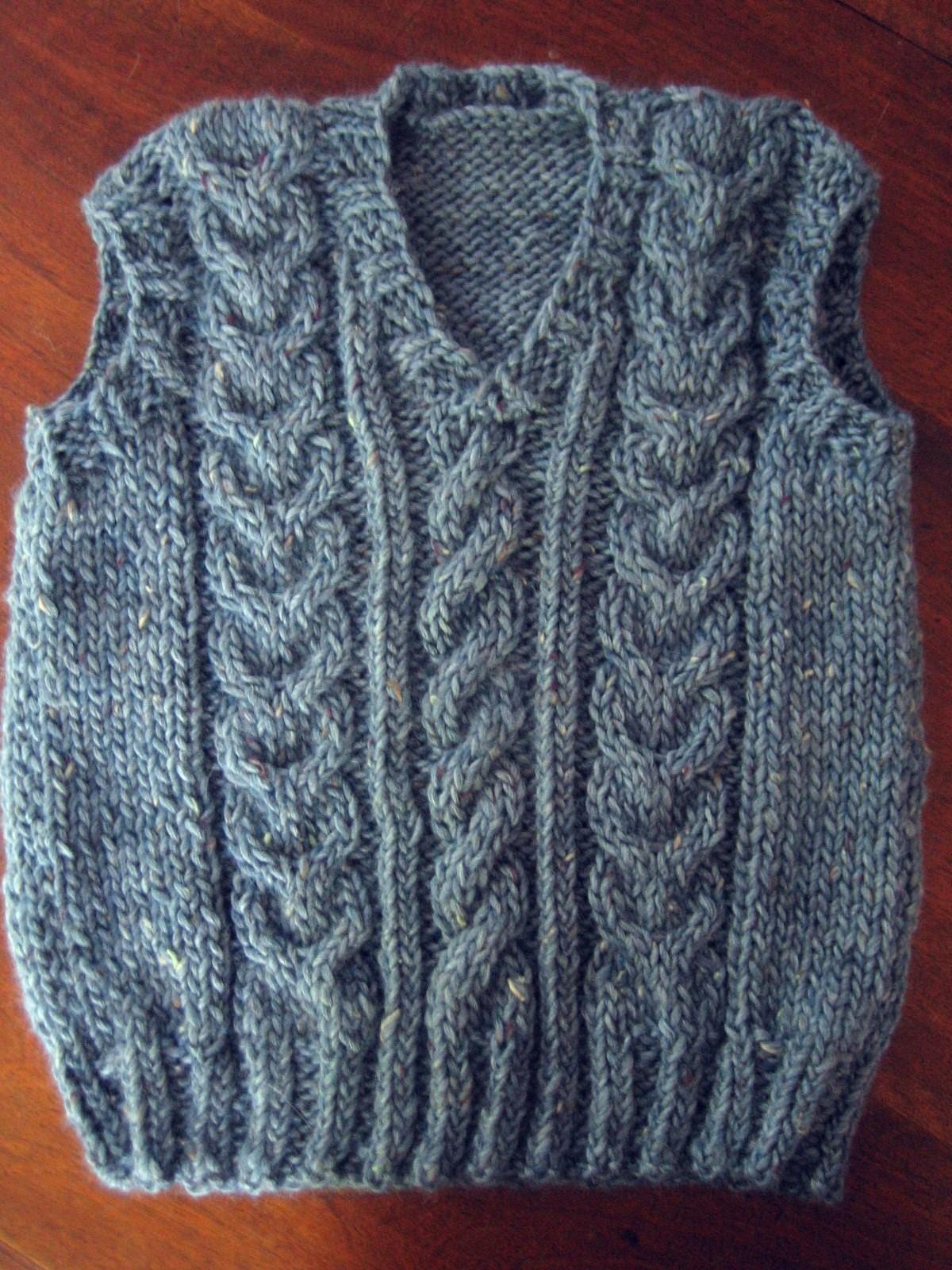 modèle tricot débardeur homme #13