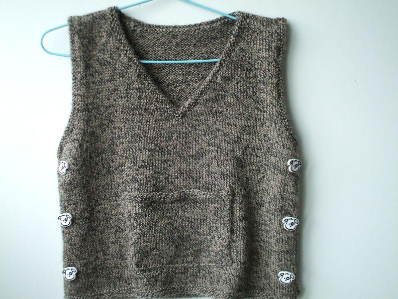 modèle tricot débardeur homme #15