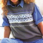 modèle tricot débardeur homme #16