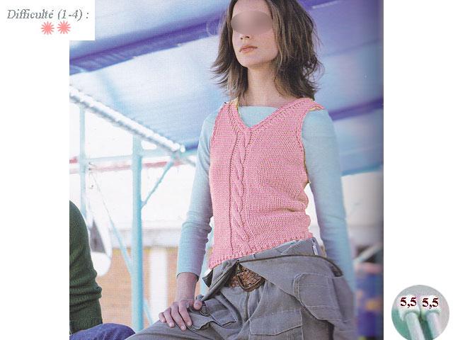 modèle tricot débardeur homme #5