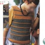 modèle tricot débardeur homme #7