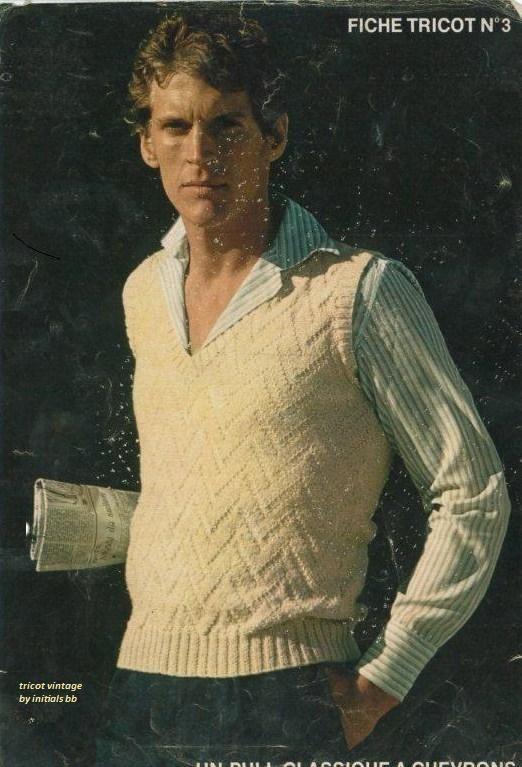 modèle tricot débardeur homme #1