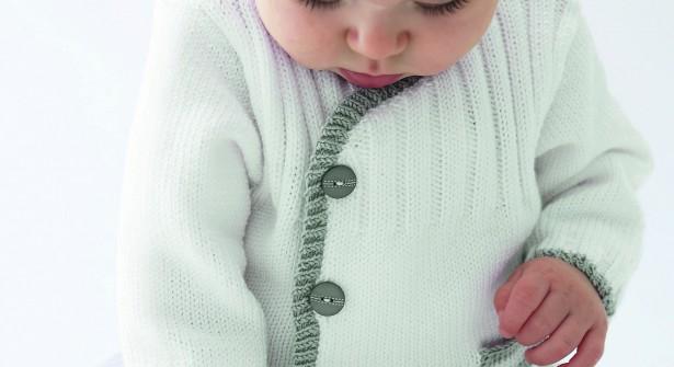 modèle tricot gilet layette #12