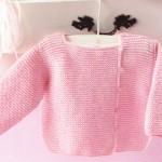 modèle tricot gilet layette #13