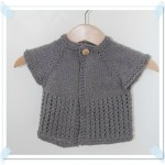 modèle tricot gilet layette #3