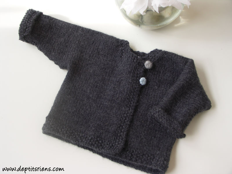 modèle tricot gilet layette #4